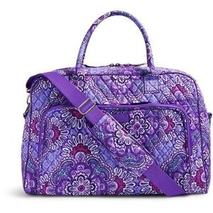 Vera Bradley Travel Set in Lilac Tapestry 2pcs